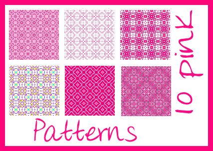 10 Pink Patterns by xSofticatious