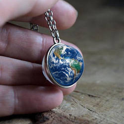 Mother Earth Cabochon Necklace by skyfellastore