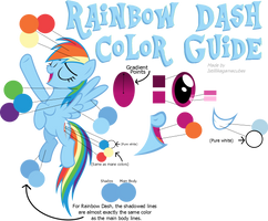 Rainbow Dash Color Guide (Colors From Hubworld)