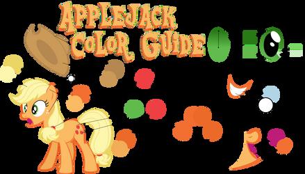 Applejack Color Guide (Colors From Hubworld)