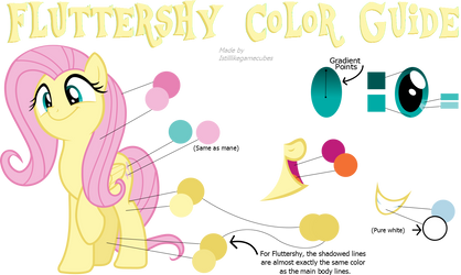 Fluttershy Color Guide (Colors From Hubworld)