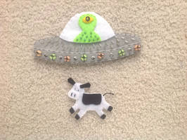 Felt Embroidery UFO (animated)