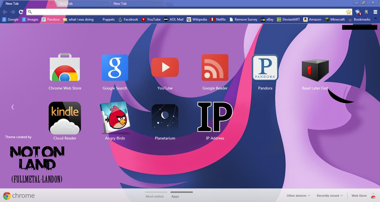 Google themes store - Mlp Google Chrome Twilight Sparkle Theme By Fullmetal Landon
