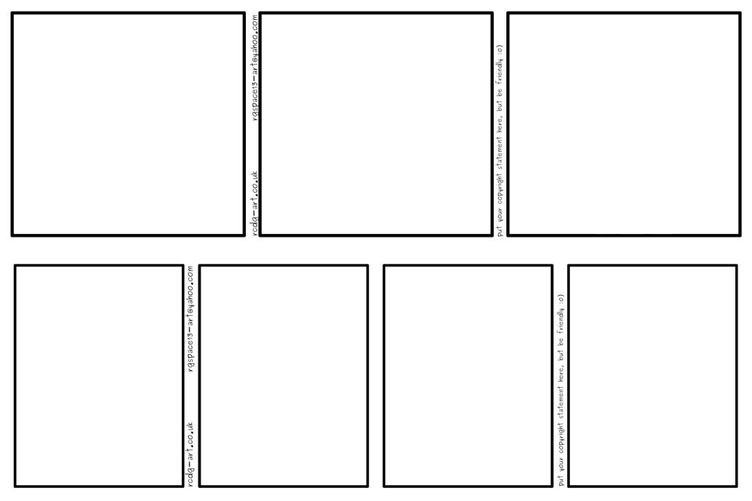 Comic strip templates 3 panel and 4 panel by rcdg on for Comic book page template psd