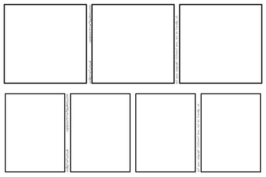 Comic Strip Templates 3-panel and 4-panel