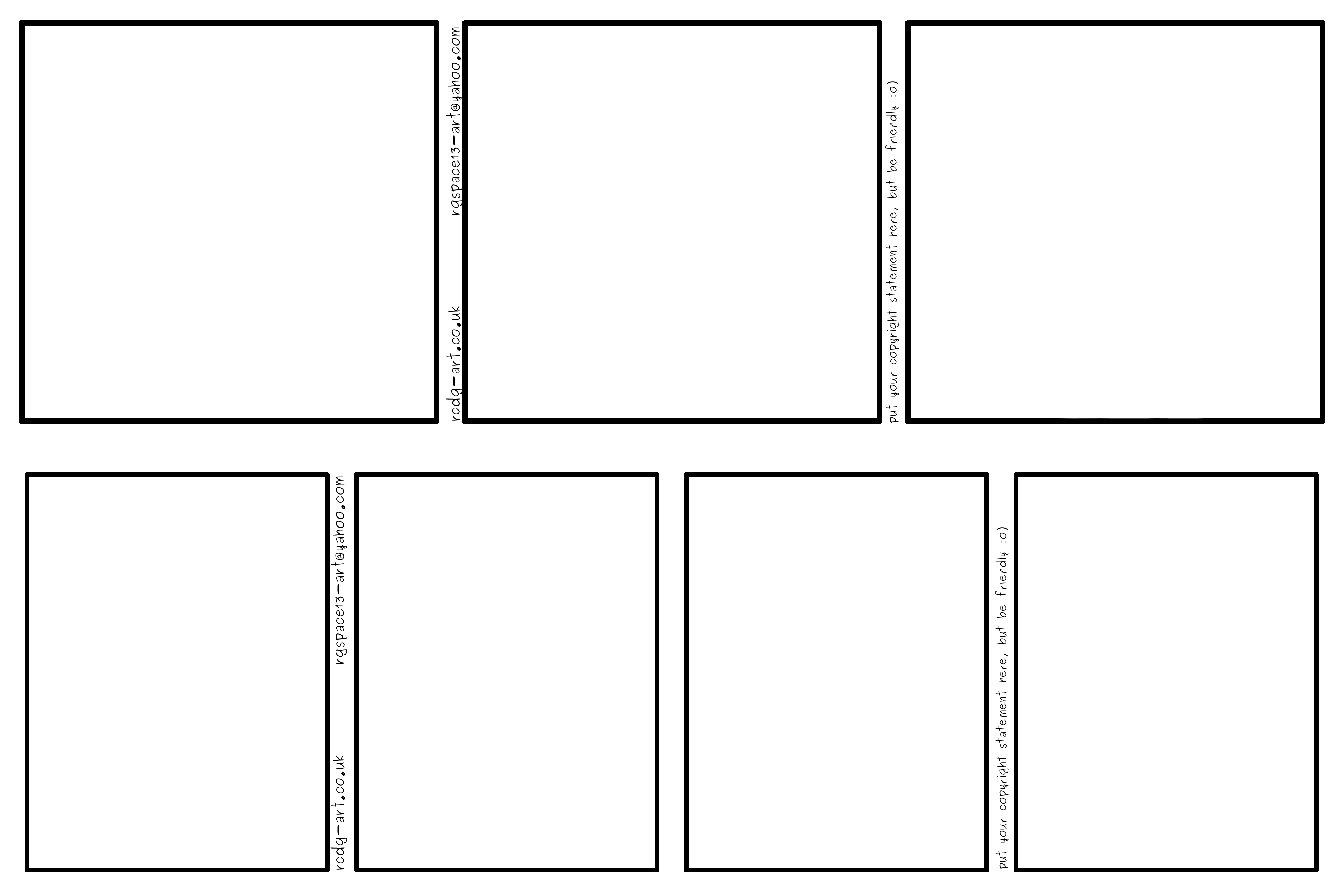 Comic Strip Templates 3panel and 4panel by rcdg on DeviantArt – Comic Strip Template