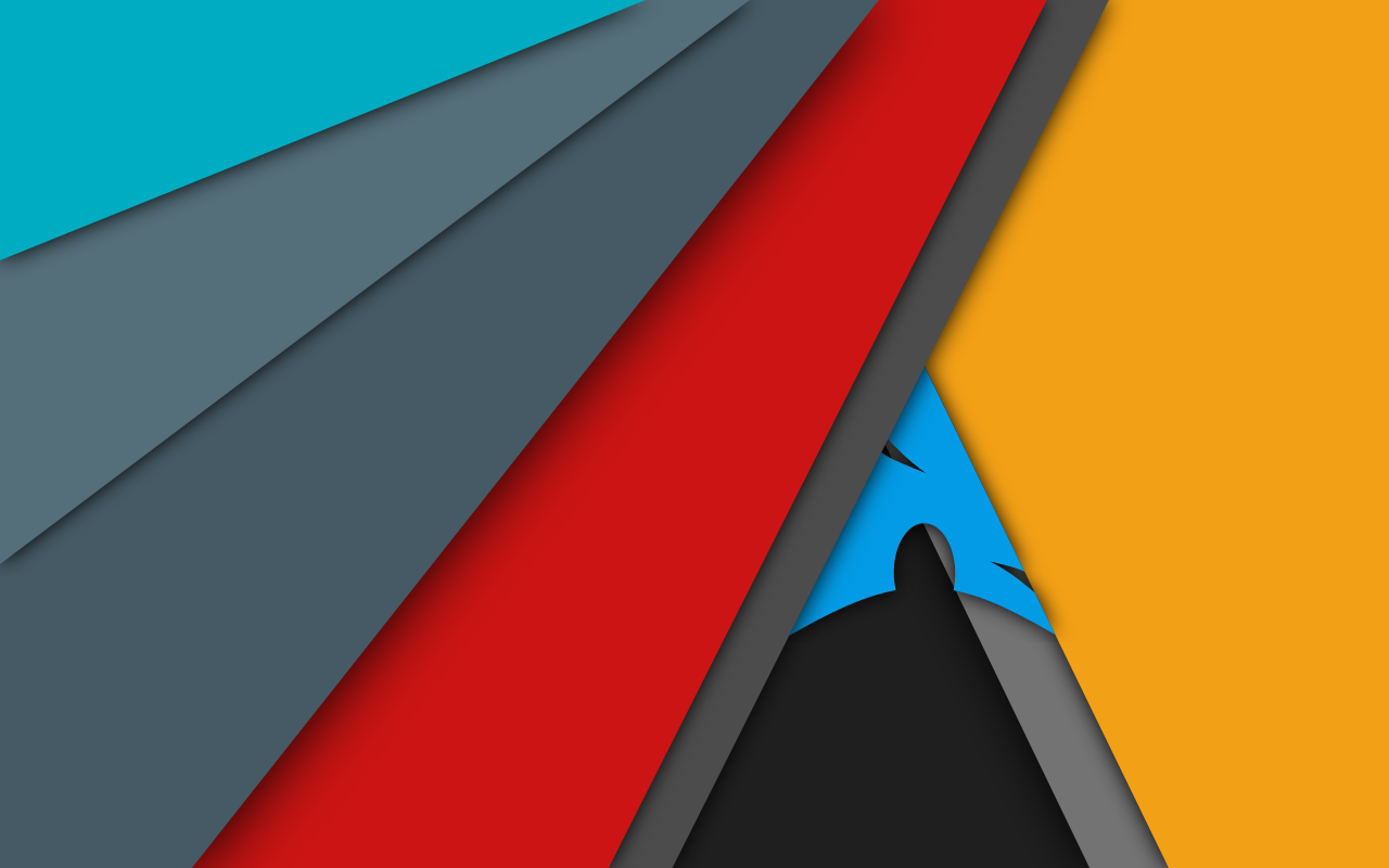 arch linux material design wallpaper updated by mzpsh