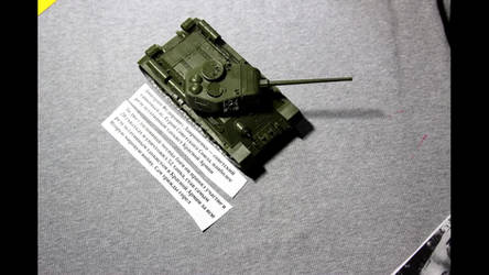 History of T-34 tank. Stop motion film