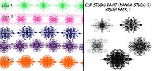 Clip Studio Paint (Manga Studio 5) Brush Pack 1