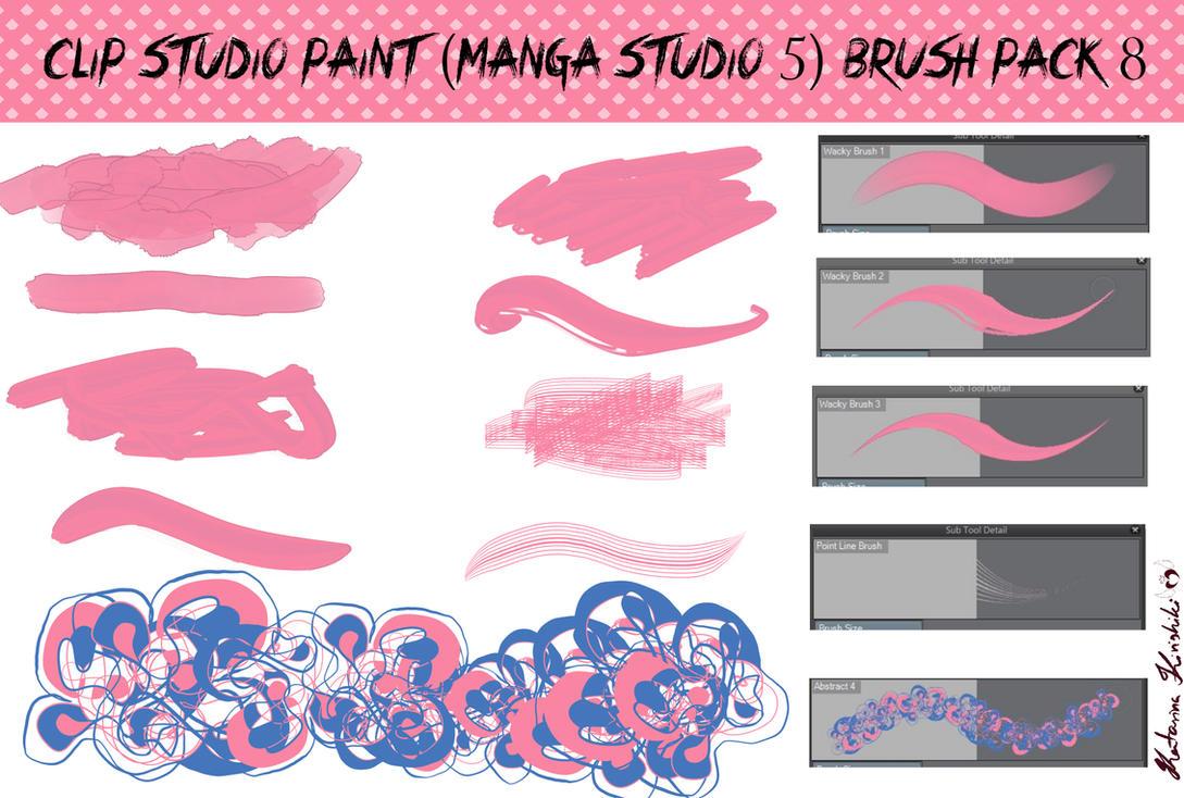 Clip Studio Paint (Manga Studio 5) Brush Pack 8 by Katarina-Kirishiki