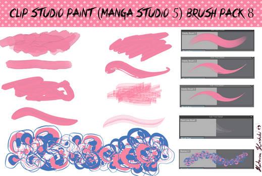 Clip Studio Paint (Manga Studio 5) Brush Pack 8