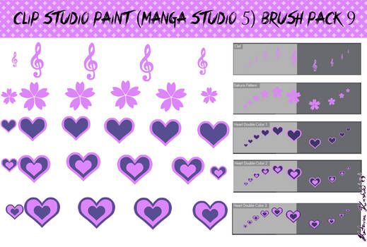 Clip Studio Paint (Manga Studio 5) Brush Pack 9