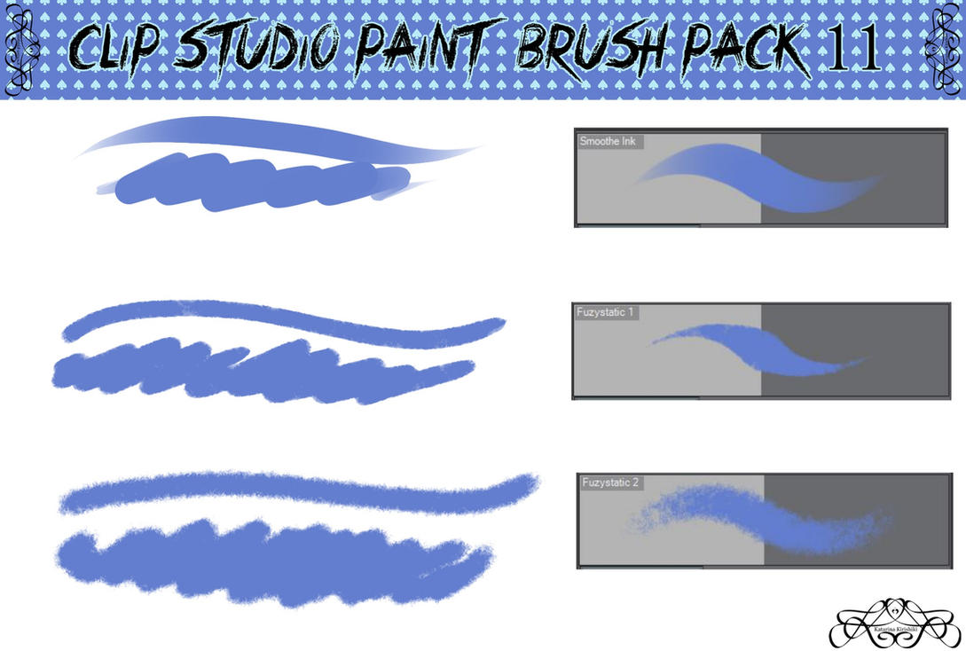Clip Studio Paint Brush Pack 11 by Katarina-Kirishiki