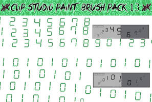 Clip Studio Paint Brush Pack 13 by Katarina-Kirishiki