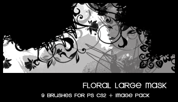 Floral Large Mask by deviantales