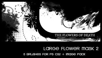 Floral Large Mask 2 by deviantales