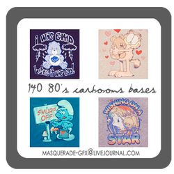 Icon Bases - 80's cartoons