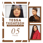 TESSA THOMPSON PNG PACK by dxddario