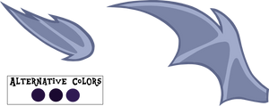 MLP Base parts - Bat Wings (Vector)