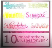 Jonas Brothers - Gimp Brushes by x-SweetLoveeJB-x