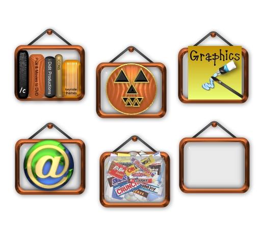 halloween framed icons
