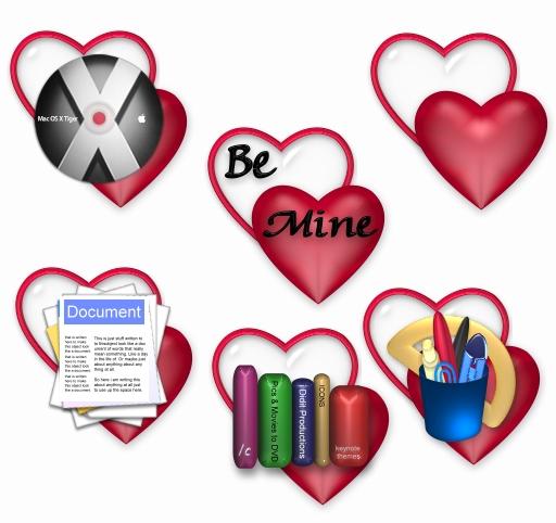 Valentine folders
