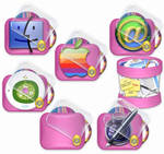 Easter pink icons