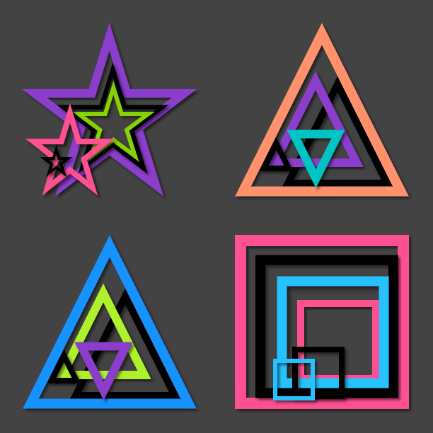 geometric doc icons by elsie432