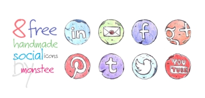 8 Free handmade png icons by monstee