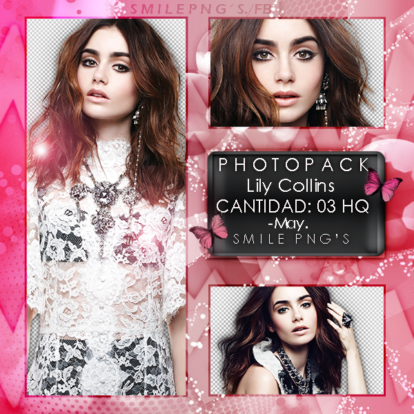 Photopack PNG Lily Collins by iWillNotSurrender