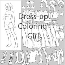 Dress-up Coloring Girl by keevs