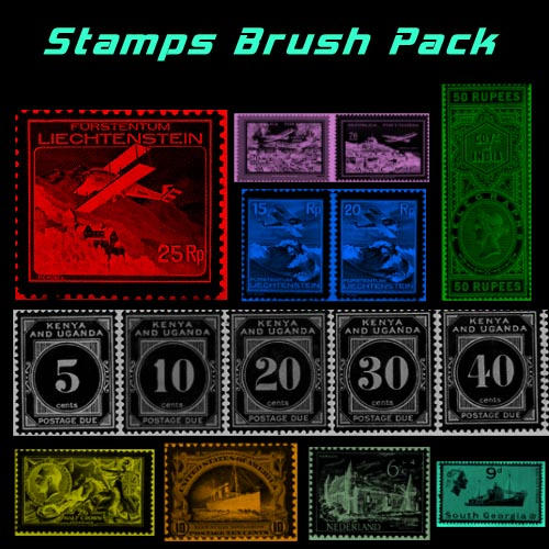 Old Postage Stamp Brushes by MyGamerGear