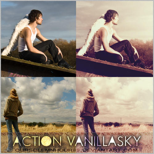 PHOTOSHOP ACTIONS + VANILLASKY by oursolemnhour89