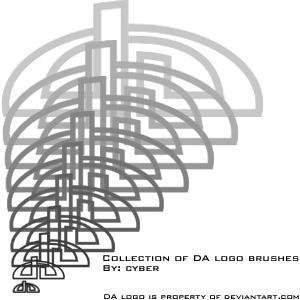 DA Logo Brush Set -reupload- by cyber