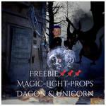 Magic-Light-Props-Dragon and Unicorn