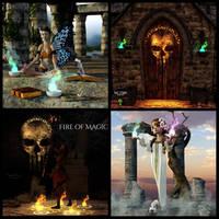 Light Prop Fire of Magic by Mysticartdesign
