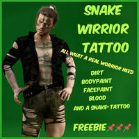 MysticArtDesign Snake Worrior Tattoos by Mysticartdesign