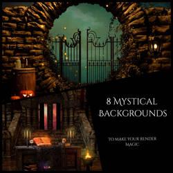 Halloween Fantasy Backgrounds by Mysticartdesign