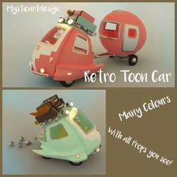 Retro Toon Car