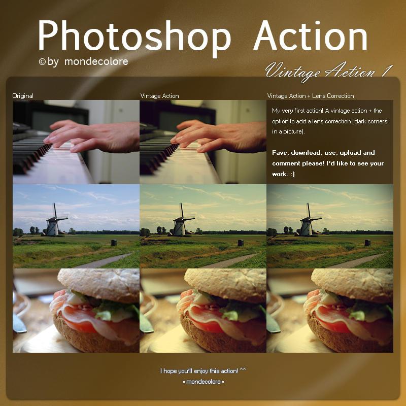 Vintage Photoshop Action I by mondecolore
