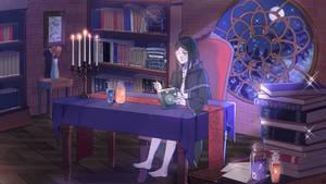Moonlit Study