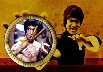 Bruce And Brandon Lee Photo Clock for xwidget by DaveBreck