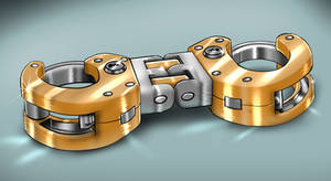 Heavy duty hinged cuffs (With colour variants)