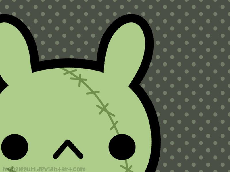 Zombie Bunny Wallpaper by MoogleGurl
