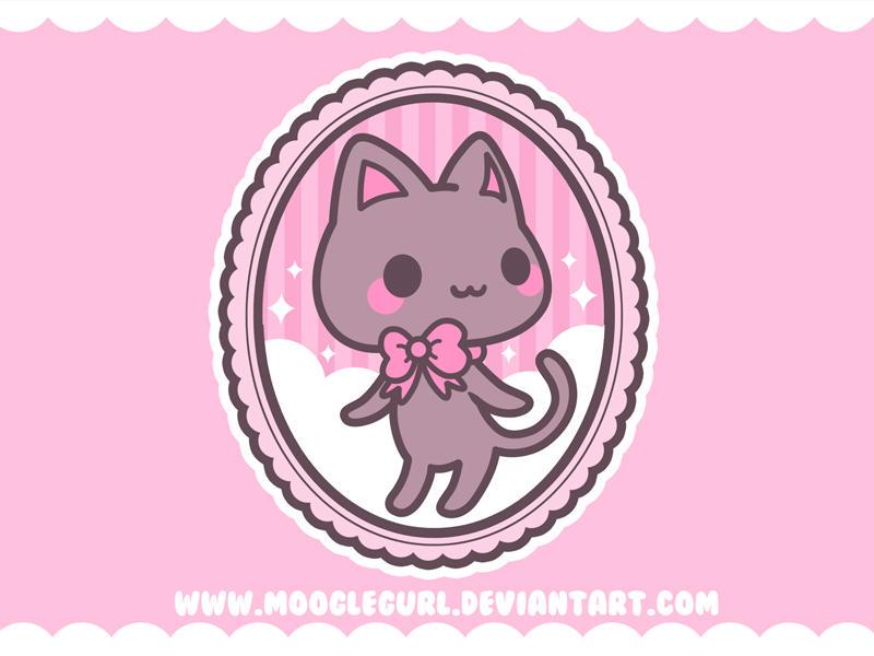 Cameo Kitten Wallpaper by MoogleGurl