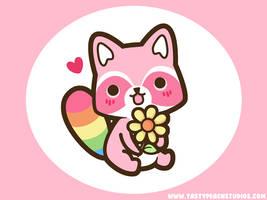 Rainbow Raccoon Wallpaper by MoogleGurl