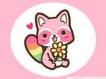 Rainbow Raccoon Wallpaper