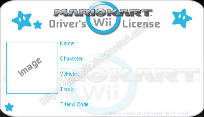 Mario Kart Wii License By Mandir On Deviantart