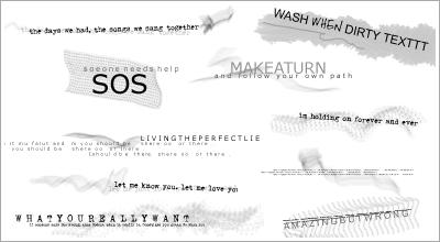 Text Brushes by WashWhenDirty