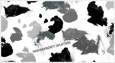 'Splatter' Brushes by WashWhenDirty